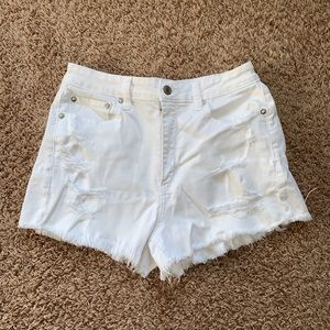 American Eagle High Rise Distressed shorts